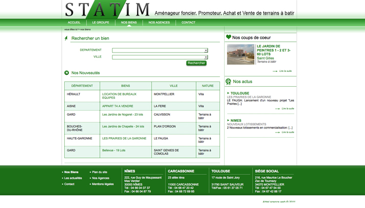 Statim-Immobilier - page nos biens
